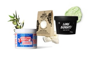 The season is changing, but the nourishment is still important. Here are three favorite body saviours, from cult classics such as the Egyptian Magic to the newcomers such as Lush's Lime Bounty. Three basic essentials, with a focus on limited ingredients.